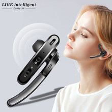 LIGE Newest Bluetooth 5.0 Earphone Wireless Noise Reduction Stereo Handsfree Headset HD Mic Earbuds Hybrid technology(China)