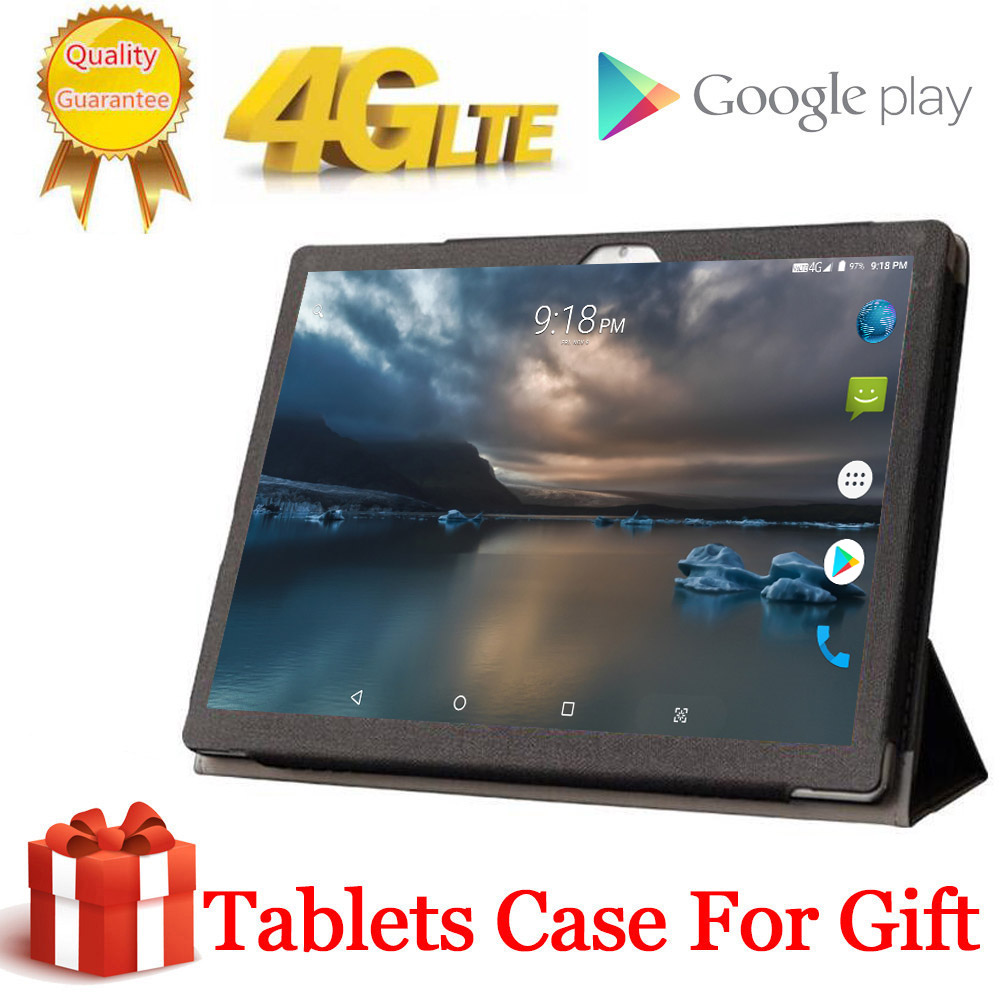 Free Gift Tablet Case Cover 4G LTE 10.1 Inch 2.5D Tablet Pc 10 Deca Core MTK6797 8GB RAM 128GB 256GB ROM 1920*1200  Android 8.0