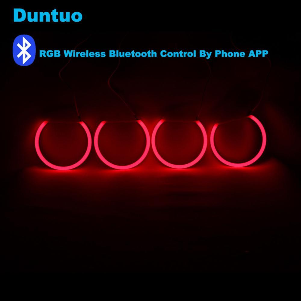Angel Eyes Cotton Bluetooth Wireless RGB Controller Kit DRL For BMW E38 E39 E46 E90 E92