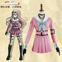 Danganronpa V3 Killing Harmony Iruma Miu Cosplay Costume Props Anime Game Woman Girls party dress School Uniform outfit