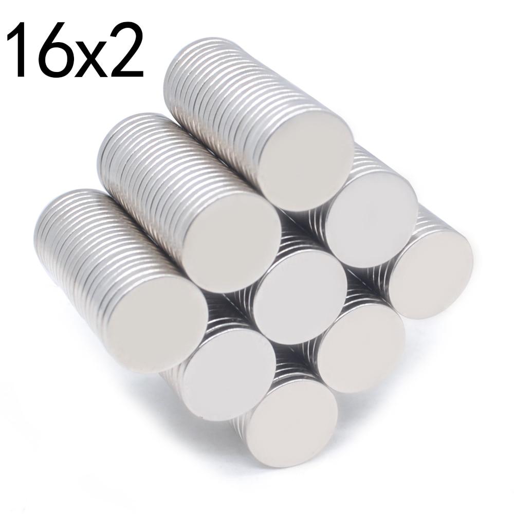 500 pièces Néodyme N35 Dia16mm X 2mm Aimants Forts Petit Disque NdFeB de Terre Rare Pour Artisanat Modèles Réfrigérateur Collant Aimant 16x2mm