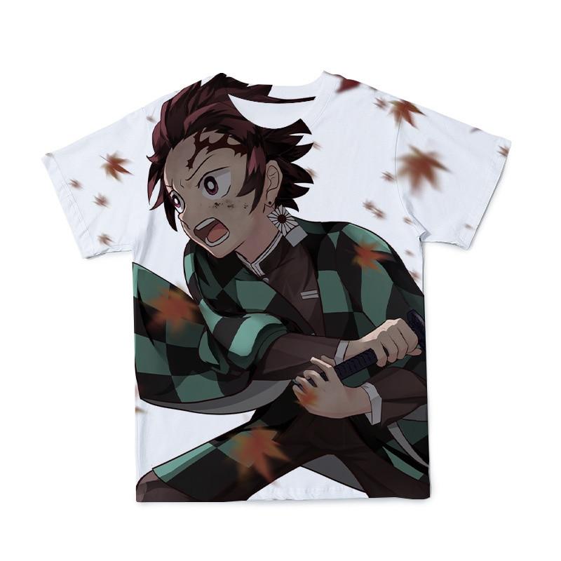 Yaz yeni stil 3D erkek T-Shirt Ghost Killer Ninja Anime moda nefes ve ilginç kısa kollu 100-6XL-özelleştirilebilir