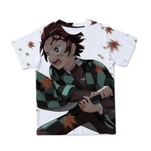 Verão novo estilo 3d masculino camiseta fantasma assassino ninja anime moda respirável e interessante manga curta 100-6xl-customizável