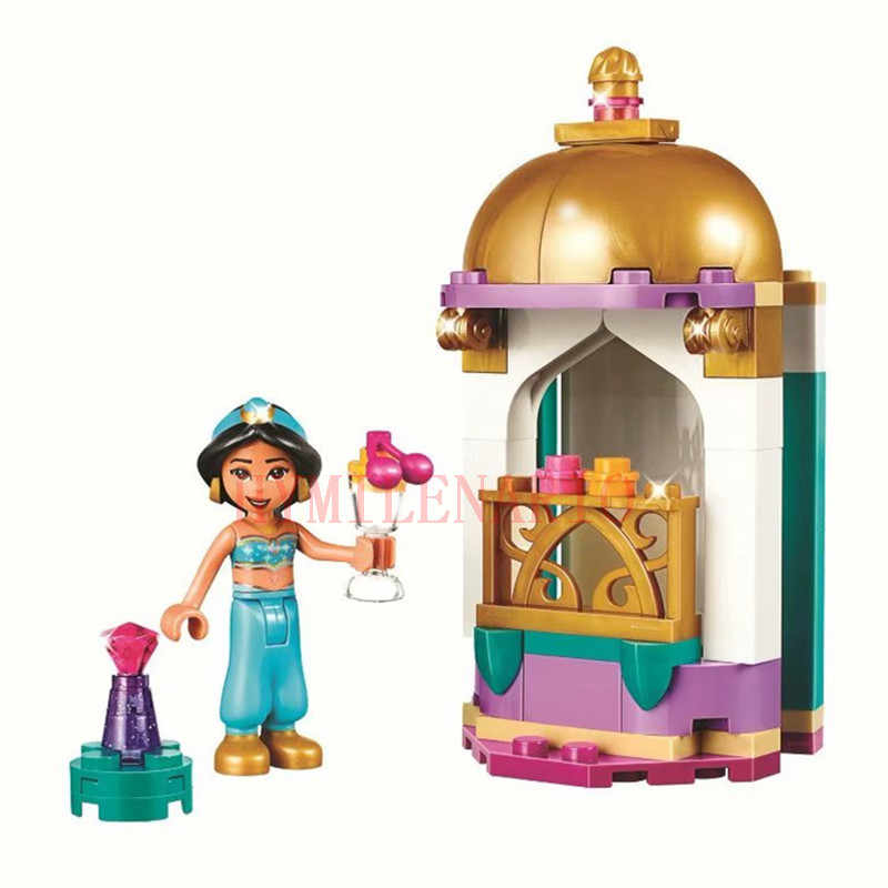 2019 Girl Friends Fairy Princess City Girls Aladdin Petite Tower Doll Action Figures Building Blocks Bricks Kits Toys