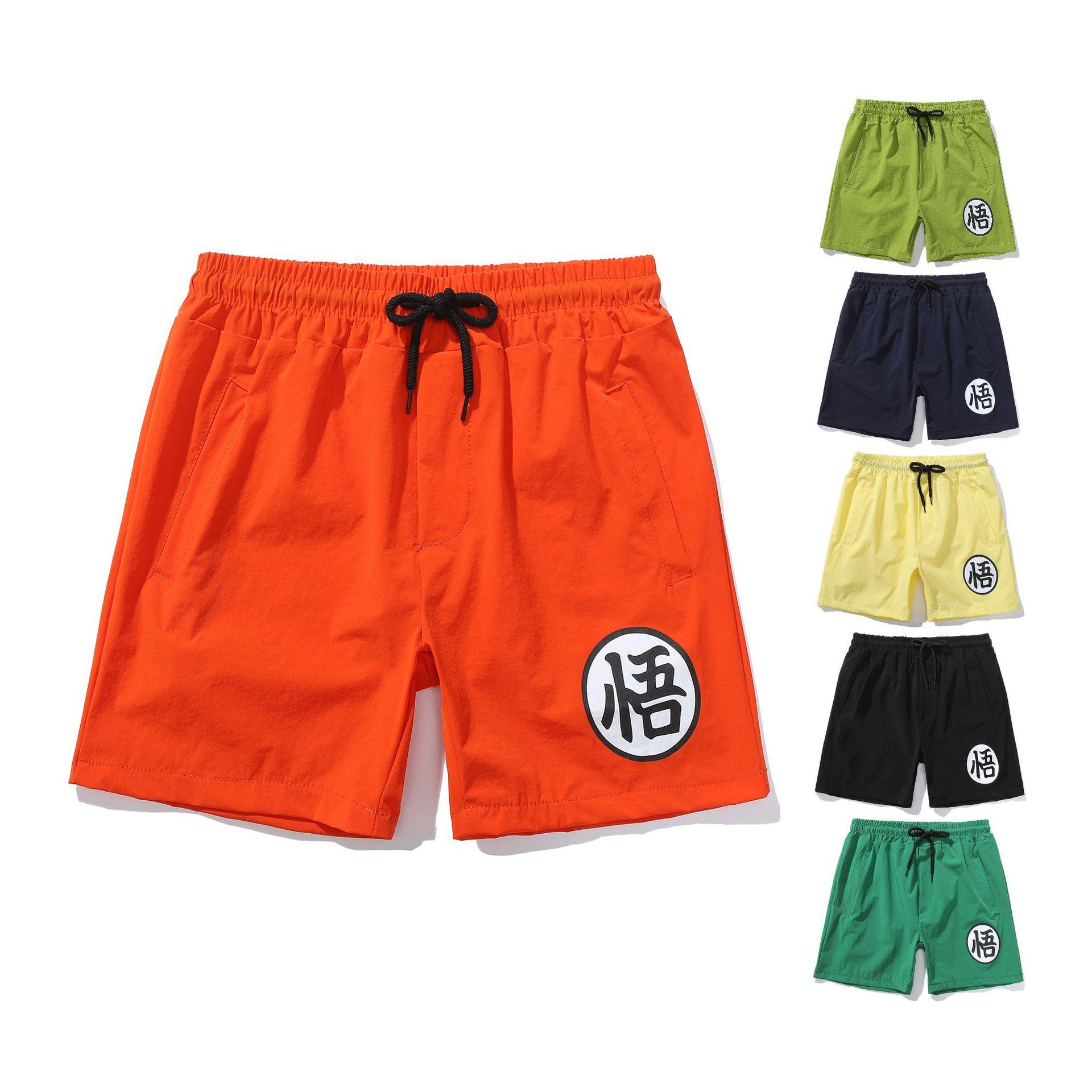 Eaby Summer Men's Hot Selling Dragon Ball Goku Casual Sports Pants With Drawstring Shorts