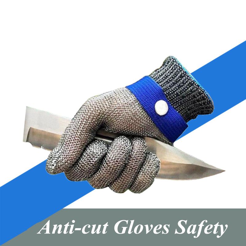Anti-cut Gloves Safety Cut Proof Stab Resistant Stainless Steel Wire Metal Mesh Butcher Cut-Resistant Gloves 1pcs