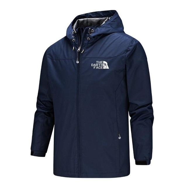 2020 Solid Color Fashion Male Coat Outdoor Sportswear Winter Jacket Men Lightweight Hooded Zipper Waterproof Coat Windproof Warm