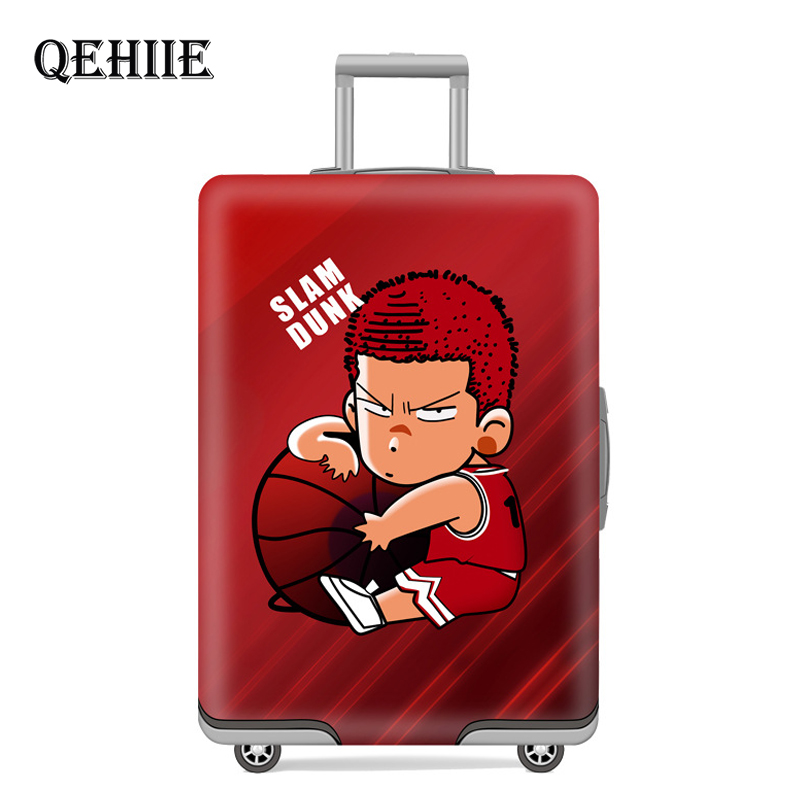 Travel Essentials Elasticity Luggage Cover Cute Cartoon Thicken Suitcase Protection Cover Suitable For 18 -32 Inch Trolley Cases