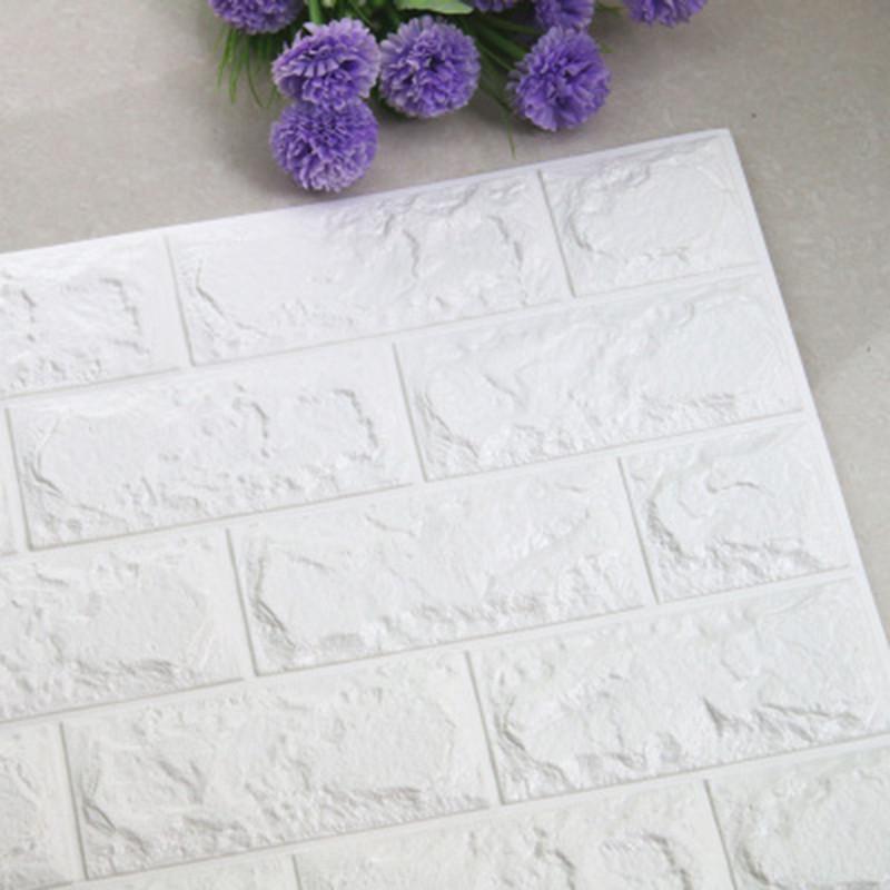 10 Sheets 3D Wall Stickers Imitation Brick Bedroom Decor Waterproof Self-adhesive Wallpaper For Living Room Kitchen TV Backdrop