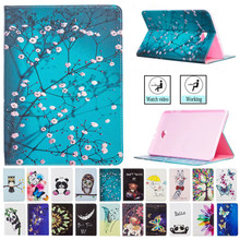 Flip Stand PU Leather Cover Case For Samsung Galaxy Tab A A6 10.1 T585 T580 SM-T587 T580N Protective Tablet Case With Card Slots litchi texture pu pc horizontal flip leather case for galaxy note 9 with with card slot black
