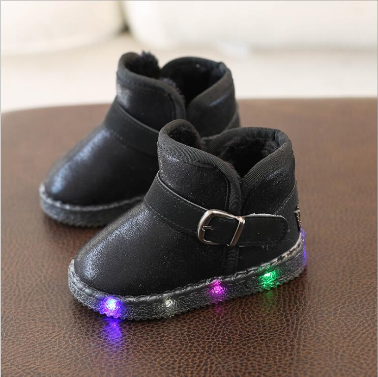 Warm Kids Snow Boots For Children 2019 New Toddler Winter  Child Shoes Non-slip Flat Round Toe  Baby Lovely Boots