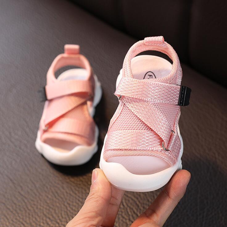 Girls Sandals 2020 Summer New Girls Non-slip Beach Shoes Soft Bottom Baby Toddler Sandals Boys Sports Sandals