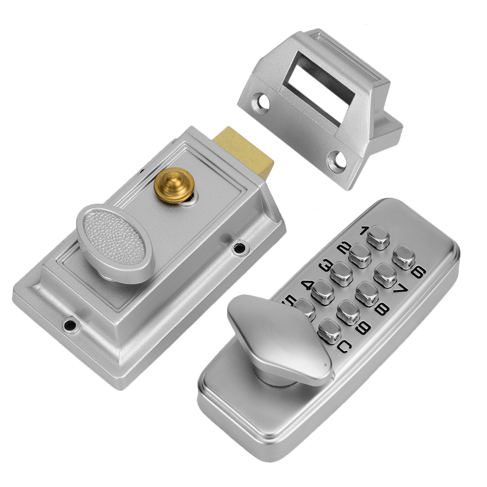 2-4 Digits Password Mini Mechanical Code Lock Set Cabinet Indoor Outdoor Door Security Coded Lock​ image