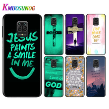 Silicone Black Cover Christian Jesus Bible Verse For Xiaomi Redmi Note 9 9S Pro Max 8T 8 7 6 5 Pro 5A 4X 4 Phone Case Bag the little prince with fox silicone phone case for xiaomi redmi note 9 9s max 8t 8 7 6 5 pro 5a 4x 4 soft black cover