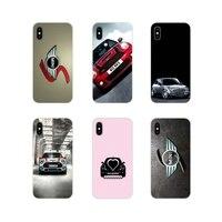 For Huawei G7 G8 P7 P8 P9 P10 P20 P30 Lite Mini Pro P Smart Plus 2017 2018 2019 Soft Transparent Shell Case car mini cooper logo Half-wrapped Cases    -