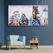 DDWW Animal Painting Zebra Family Wall Art Picture Canvas Print Canvas Painting  for Living Room Home Decor No Frame painting canvas wall decor art picture canvas print painting abstract pattern blue yellow for living room home decor no frame