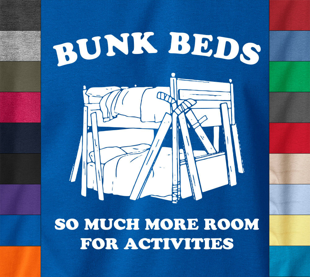 Will Ferrel BUNK BEDS T-Shirt Funny Step Brothers Movie 100% Ringspun Cotton Tee image