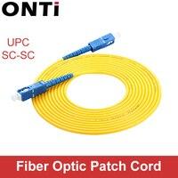 ONTi UPC SC SC UPC Fiber Patch Cable 1M 3M 5M 10M 20M 30M SM SX 2.0 milímetros 3.0 milímetros Cabos de Fibra FTTH Óptica Jumper de Pigtail