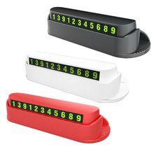 7 в 1 Автомобильный парфюм номерная табличка для парковки скрытый светящийся освежитель воздуха для мобильного телефона держатель для карт