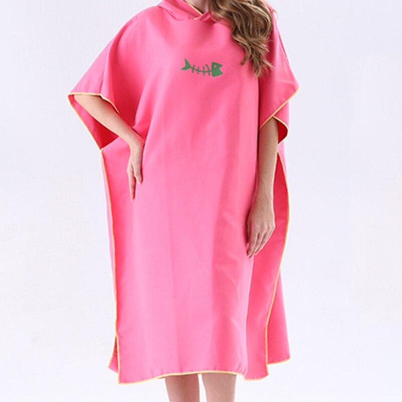 Nova secagem rápida mudando robe toalha de