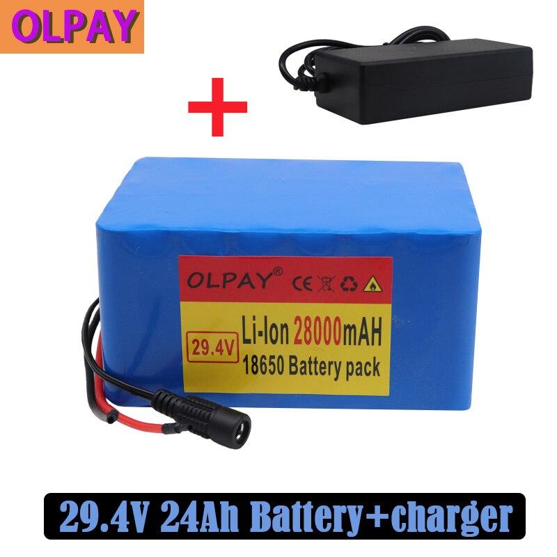 Новая высококачественная батарея 7S5P 24v 28Ah 250w 29,4 V 28000mAh литиевая батарея для инвалидных колясок Электрический велосипед + зарядное устройств...