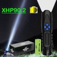 Lampe de poche tactique Rechargeable Usb Super 300000 Lumen, torche la plus puissante Led lampe torche à LED LED Xhp90.2 Xhp50