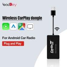 LoadKey & Carlinkit Wireless CarPlay Android Auto USB Dongle para Android Radio Pantalla Adaptador de reproducción de coche Mirrorlink Netflix Video