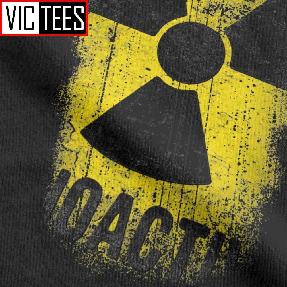 男性tシャツそれでは取得放射性ノベルティ綿tシャツ核放射線ロシアtシャツ服夏