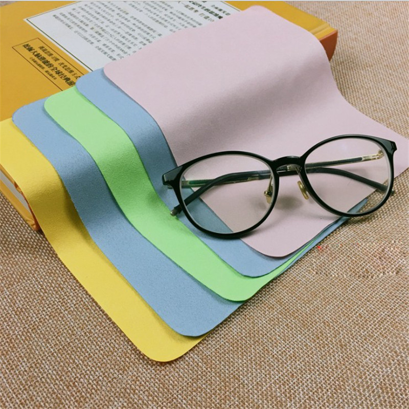 5Pcs Soft Chamois Glasses Cleaner Eyeglasses Microfiber Clean Cloth for Lens Phone Screen Cleaning Wipes Tools 2