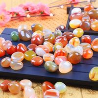 500g/Set Agate Cobblestone Rain Stone Natural Pebbles Potted Garden Sidewalks Aquarium Garden Suppily DIY Ornament Craft 2019NEW