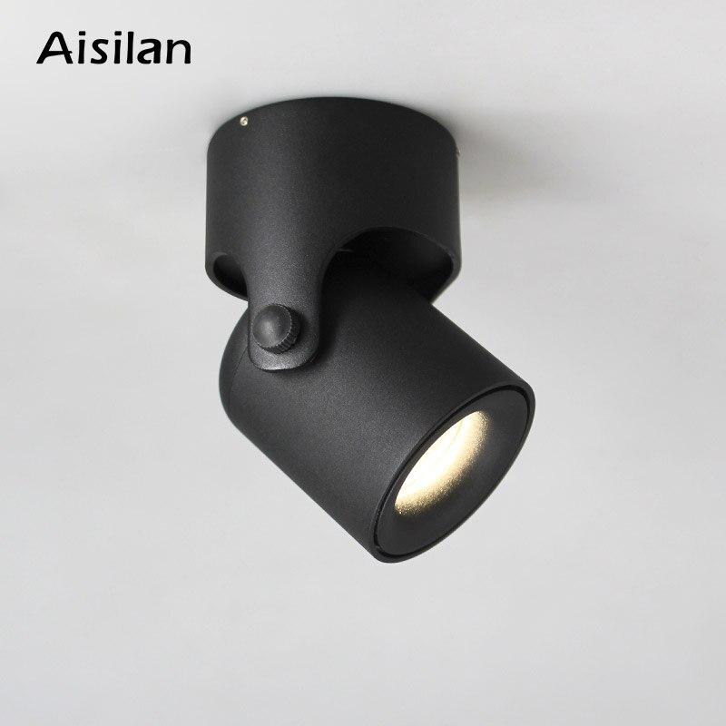 Aisilan LED светильник поверхностного монтажа пятно света COB задний фон CREE чип свет регулируемый 180 градусов фойе гостиной лампы