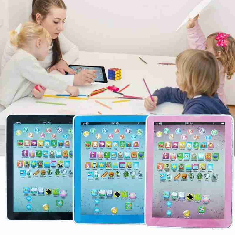 Simple English Early Education Machine Toy Multifunctional Type Computer Tablet Children Learning Machine Toys