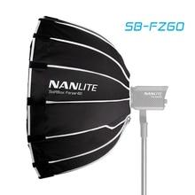 Nanguang SB FZ60 60 سنتيمتر سوفت بوكس ل Nanlite Nanguang 60 واط 60B 60 التصوير صندوق إضاءة بوين جبل مظلة مستديرة لينة صندوق