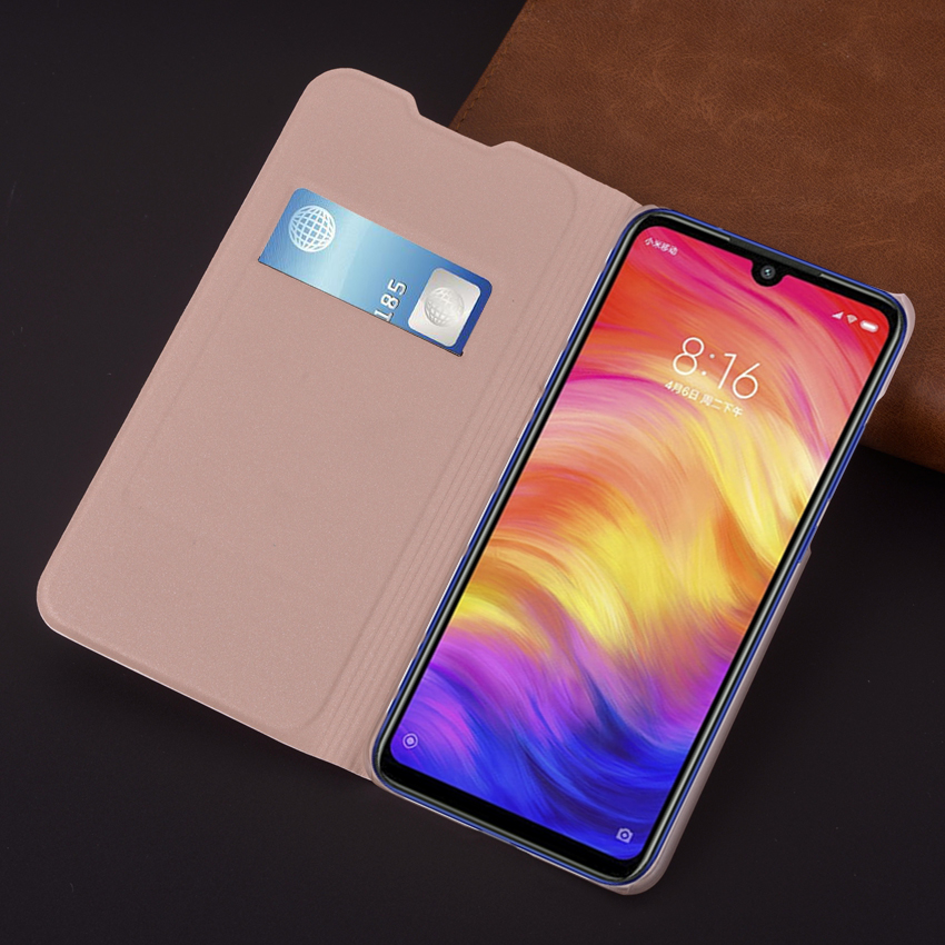 Leather Cover Flip Phone Case For <font><b>Xiaomi</b></font> <font><b>Redmi</b></font> <font><b>Note</b></font> 8 Note8 <font><b>Pro</b></font> Note8pro 8pro <font><b>Global</b></font> <font><b>Version</b></font> Luxury Shockproof Wallet Cases image