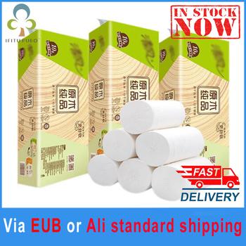 10 rolek chińskiej znanej marki papier toaletowy papier do kąpieli w domu papier toaletowy papier podstawowy papier toaletowy z masy celulozowej papier toaletowy GYH tanie i dobre opinie Drewna
