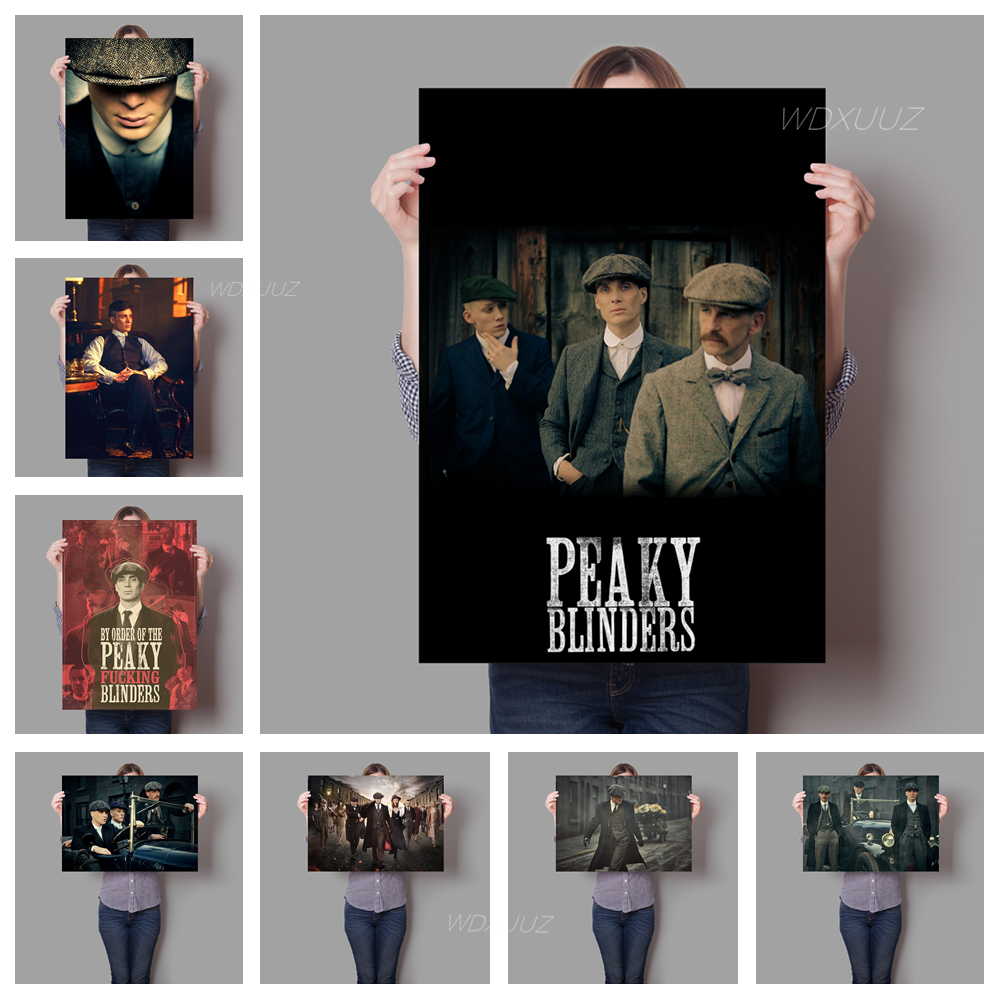 2019 popular British criminal gangster TV series Peaky Blinders family decorative painting poster wall art No Frame o872