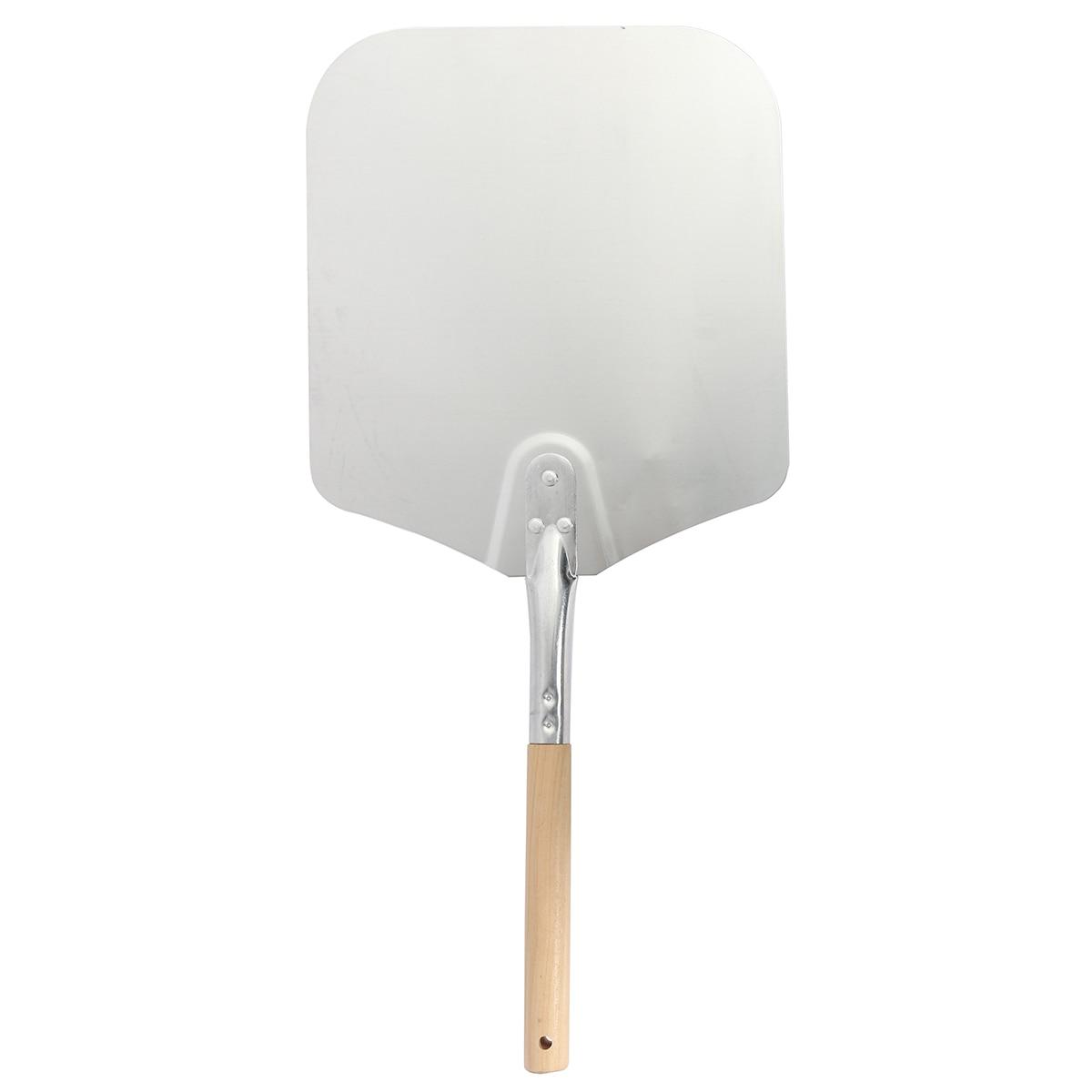 Liga de alumínio pizza espátula pá bolo levantador placa titular ferramenta cozimento cortador queijo casca bakeware acessórios cozinha gadgets - 2