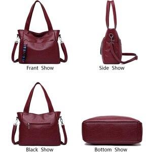 Image 4 - LONOOLISA фирменные сумки из натуральной кожи для женщин 2018, роскошные сумки, женские сумки, Дизайнерские Большие женские сумки на плечо, Основная сумка