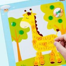 5 pièces/ensemble enfants bricolage artisanat bouton autocollant jouets éducatifs pour enfants dessin animé créatif Puzzle apprentissage Arts et artisanat jouets cadeau