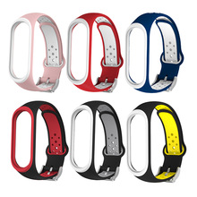 Bracelet Silicone-Strap Mi-Band Xiaomi Watch for 4-3 Double-Color