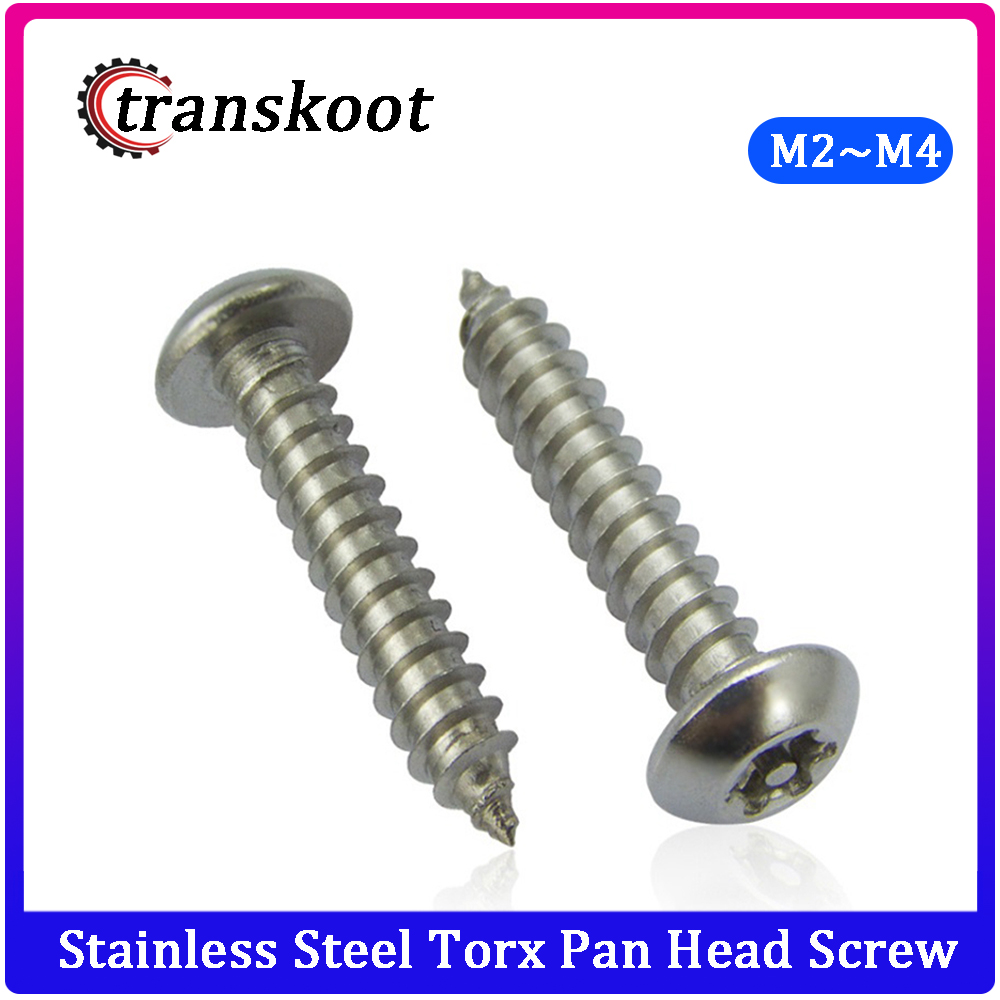 10Pcs <font><b>M2</b></font> <font><b>M2</b></font>.5 M3 M4 304 Stainless Steel Torx Pan Head Screw Six-Lobe Round Head Machine self-<font><b>tapping</b></font> screw Security Screws image