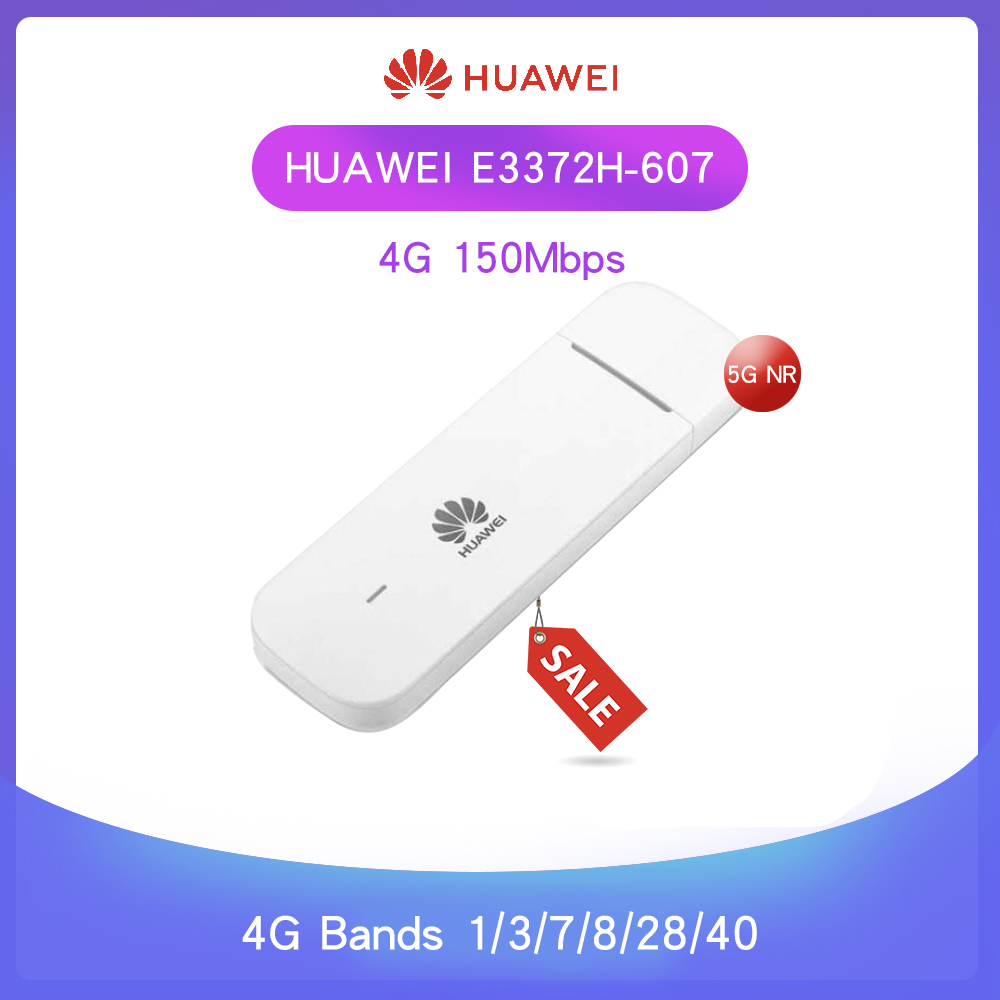 Unlocked New Huawei E3372 Hilink E3372h-607 4G LTE 150Mbps USB Modem 4G LTE USB Dongle E3372h-607 ( plus a pair of antenna )