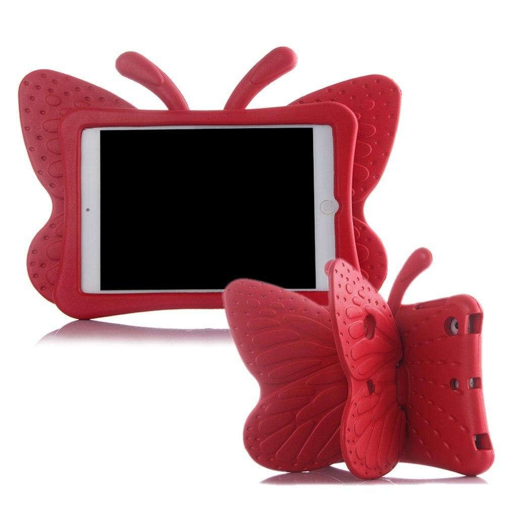 Eva caso à prova de choque para ipad 2/3/4 dos desenhos animados 3d borboleta suporte mesa capa para ipad 2 crianças casos seguros fundas a1430