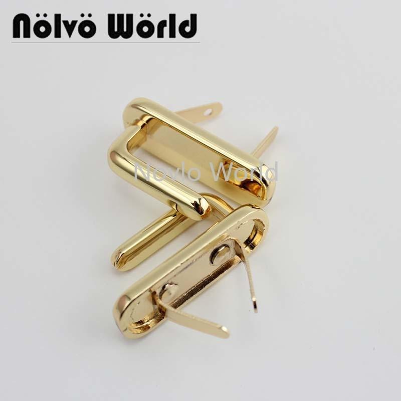 4 Pieces Test, 34*21mm, High Quality Metal Lock For Purse Bag Handle Locks Women Handbag Platinum Lock Hook Hardware Accessories