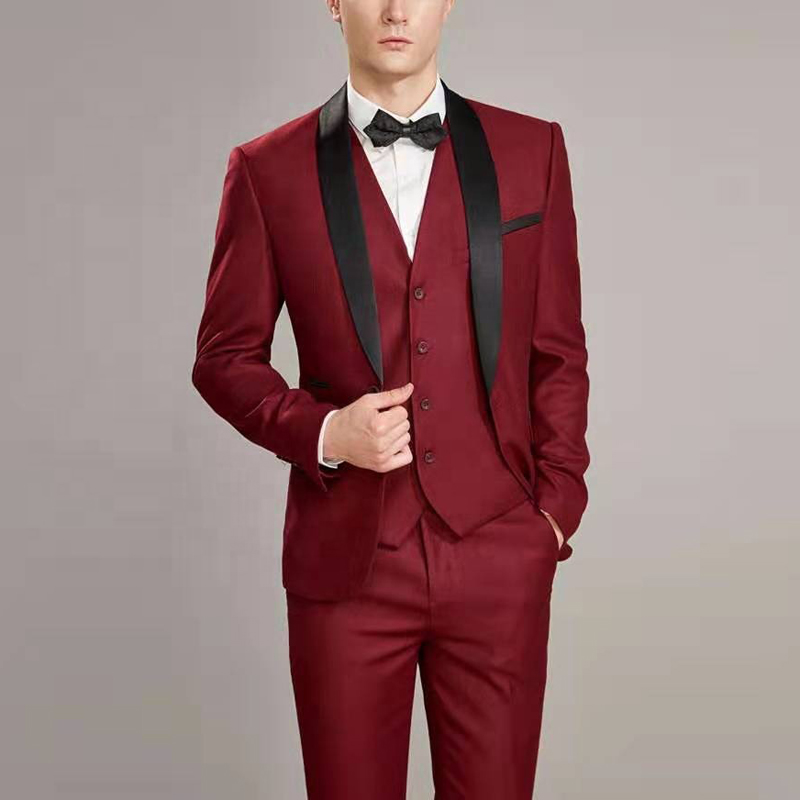 Tailor Made Suit  European Style Custom Made Mens Suit Wedding PartyGroom Customized   Wedding  Tuxedos 3pcs Suits