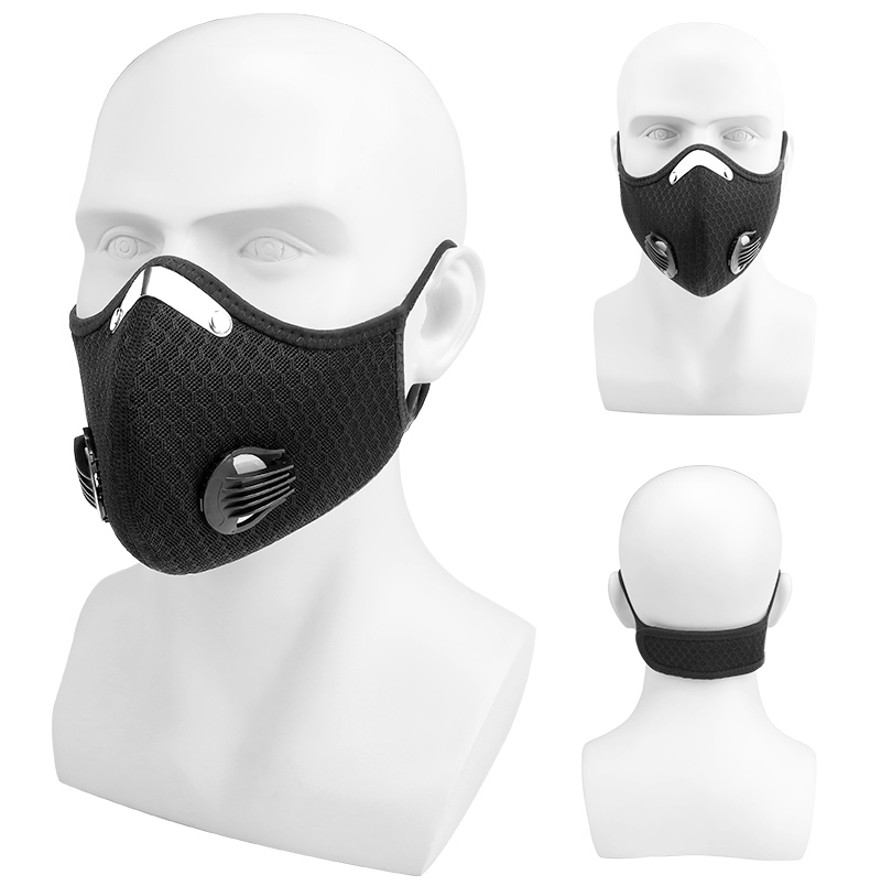 H4097d44203584385ac6fdfe7805082bbQ X-Tiger Pro Cycling Face Mask With Filters Breathable Cycling Mask Activated Carbon Anti-Pollution Sport Training Bike Facemask