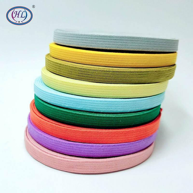 HL 10MM largeur 5 mètres/lot coloré plus haut Nylon bandes élastiques vêtement pantalon sacs maison Textile accessoires de couture bricolage