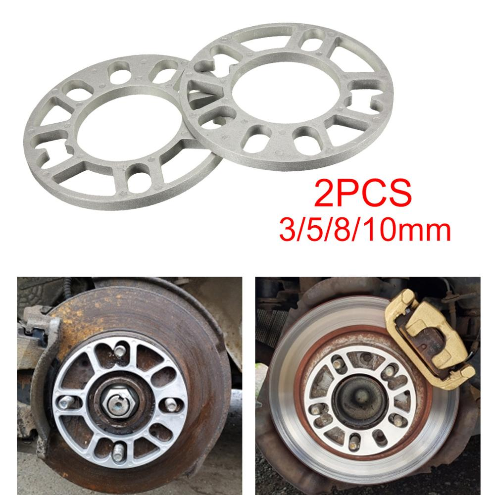2PCS 3/5/8/10mm Universal Alloy Aluminum Wheel Spacers Shims Plate For 4/5 Stud Wheel 4x100 4x114.3 5x100 5x108 5x114.3 5x120