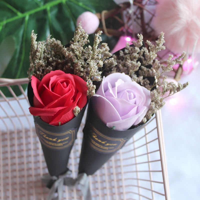 1 Pcs Kecil Romantis Yang Indah Bunga Mawar Buatan Sutra Bunga untuk Pernikahan Pesta Hari Valentine Dekorasi Rumah