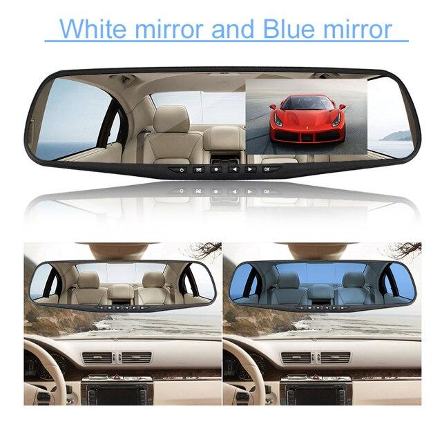 OMGO wideorejestrator samochodowy kamera na deskę rozdzielczą podwójny obiektyw lusterko wsteczne Auto Dashcam rejestrator rejestrator w wideo samochodowe pełna kamera hd na deskę rozdzielczą pojazd